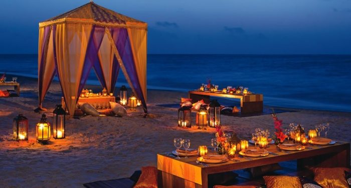 Beach+Reception+Indian+Destination+Wedding+Cancun+Dreams+AM+Resorts
